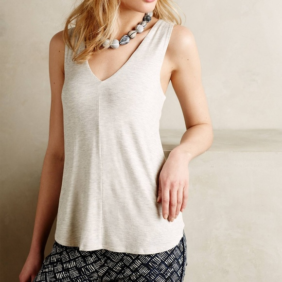d7ac68bb14 Anthropologie Tops | Gray Bordeaux Doublev Swing Tank | Poshmark